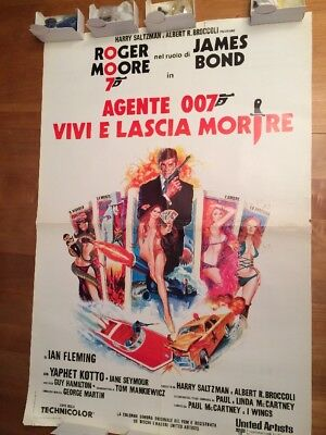 Bond Film Live And Let Die Italian Roger Moore Movie Poster FREE SHIPPING