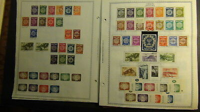 Israel stamp collection on Minkus pages to '91