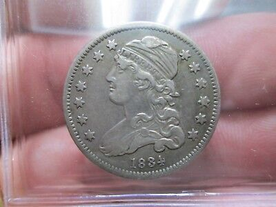 1834 Bust Silver QUARTER VERY FINE Condition