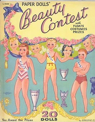 Vintage 1941 Beauty Contest Paper Dolls Laser Reproduction~Uncut Lo Pr No.1 Sell