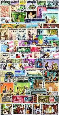 Togo 1500 timbres différents