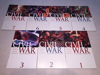 Civil War 1 - 7 1st Prints 7 Iss Lot Mark Millar McNivan