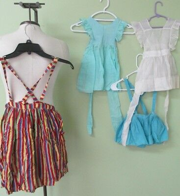 Vintage Little Girl Pinafores And Skirt Collection Of 4