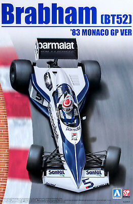 Brabham BT52 1983 Monaco GP Ver F1 Piquet 1:20 Model Kit Bausatz Aoshima 098233