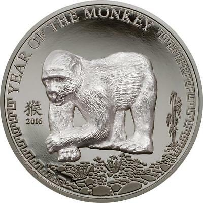 MONGOLIA 2016 500 TOGROG Year of the Monkey  Silver Coin