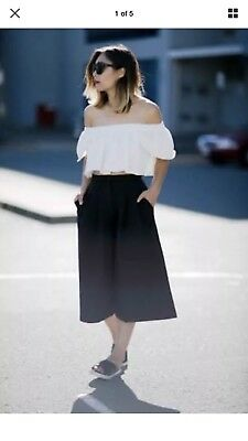 Seed Black Culottes Size 6