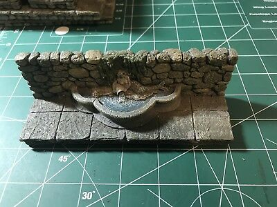 Dawrven Forge Master Maze Resin Terrain Pieces. 4 Inch Wall With Mermaid Pond