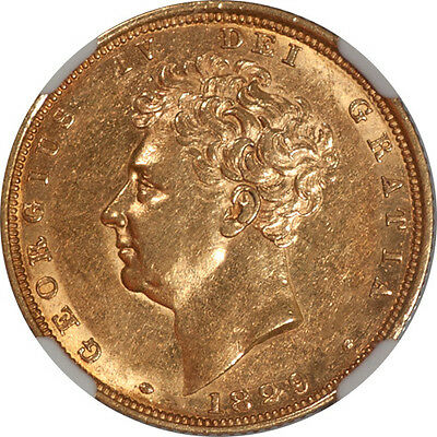 Great Britain 1829 George IV Gold Sovereign NGC AU-58 RARE!!