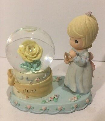 Enesco Precious Moments June Birthday Pearl Snow Globe 2000