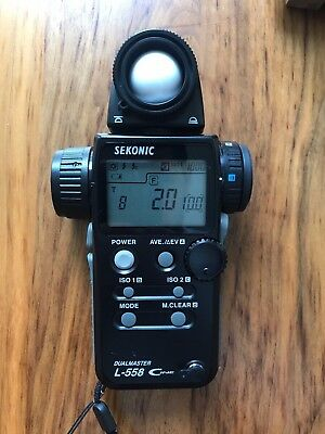SEKONIC L-558 Cine DualMaster, Light Meter - Spot & Ambient - Great Condition