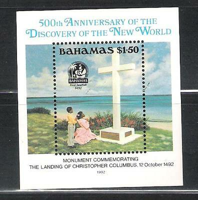 Bahamas 753 Mnh S/s Monument To Columbus Scv 6.50
