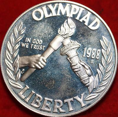 Uncirculated Proof 1988-S Olympiad US Silver Dollar Free S/H