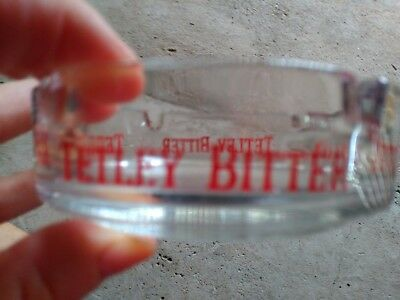 Tetley Beer galss ashtray