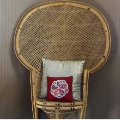 vintage bohemian wicker chair