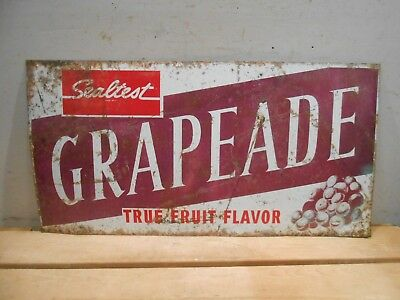 "Old Sealtest Grapeade 23"" X 12"" Milk Ice Cream Dairy Farm Tin Sign * No Reserve"