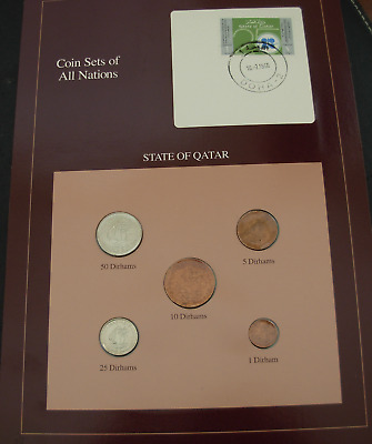 State of Qatar 5 Coin Set UNC 1973 - 1987 Coin Sets of All Nations
