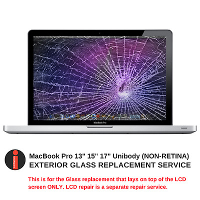 """WOW! ONLY $84.99 Macbook Pro 13"""" 15"""" or 17"""" Cracked Glass Display Repair Service"""