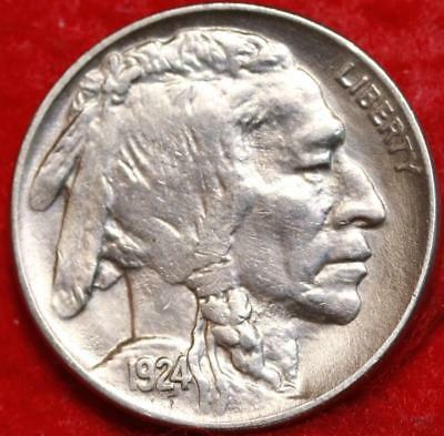 Uncirculated 1924 Philadelphia Mint  Buffalo Nickel Free Shipping