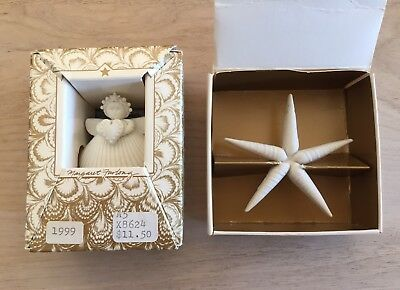 Maragaret Furlong Angel & A Star In The Night Christmas Ornaments Mint Condition