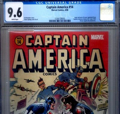 PRIMO:  CAPTAIN AMERICA #14 NM+ 9.6 CGC Winter Soldier Bucky Marvel comics lot