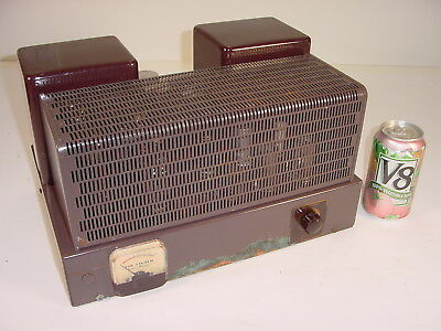 Vintage 1954 Fisher 55A 55-A Z-Matic 6550 5AW4 Monoblock Tube Amplifier Project