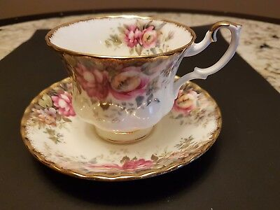 Vintage Royal Albert Autumn Roses  Bone China  Cup And Saucer 1981