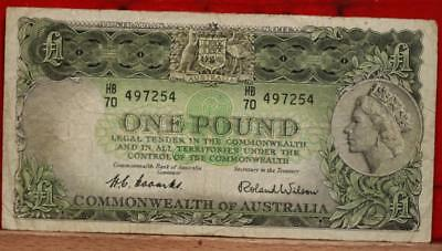 Australia One Pound Note Free S/H!