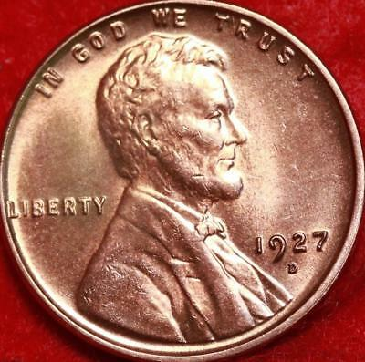 Uncirculated 1927-D Denver Mint Red Copper Lincoln Wheat Cent Free Shipping