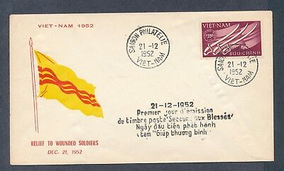 Vietnam 1952 Wounded Soldier Relief cachet unaddressed first day