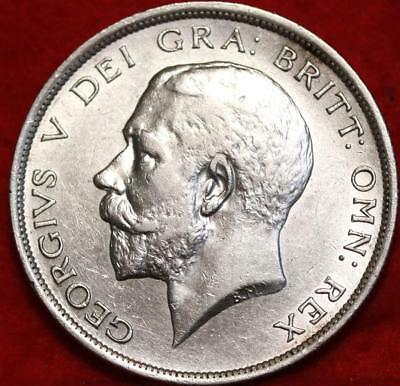 1916 Great Britain 1/2 Crown Silver Foreign Coin Free S/H