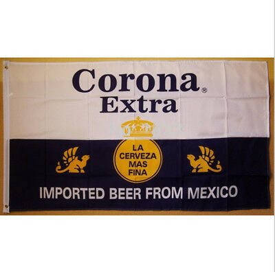 White Corona Extra Mexico Beers Flag Banner 3X5ft Sign Coors Man Cave Garage