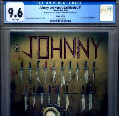 PRIMO:  JOHNNY the HOMICIDAL MANIAC #1 Special Ed s/n NM+ 9.6 CGC Slave Labor