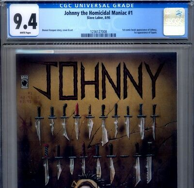 PRIMO:  JOHNNY the HOMICIDAL MANIAC #1 NM 9.4 CGC 1st print Slave Labor comics