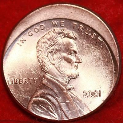 Uncirculated 2001 Philadelphia Mint Lincoln Cent Off Center Error Free S/H