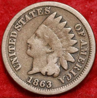 1863 Philadelphia Mint Copper-Nickel Indian Head Cent Free Shipping