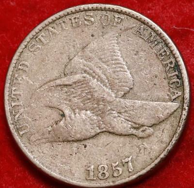 1857 Philadelphia Mint Copper-Nickel Flying Eagle Cent Free S/H