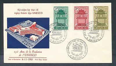 Vietnam 1961 UNESCO Confucius cachet unaddressed first day cover #2
