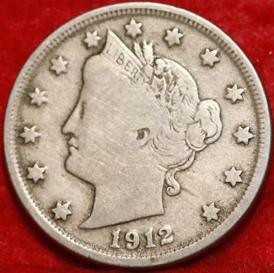 1912-D Denver Mint Liberty Nickel Free Shipping