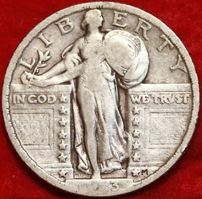 1923 Philadelphia Mint Silver Standing Liberty Quarter Free Shipping