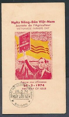 Vietnam 1974 Agricultural Reform Farmers Day cachet first day folder