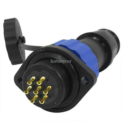 SD20 20mm 7 Pin Flanged Waterproof Aviation Cable Connector Socket IP68 250V/10A