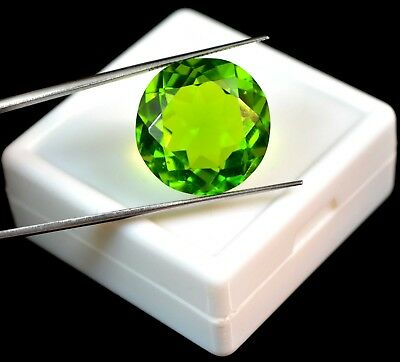 22.35 Ct Round Cut Brazilian Green Peridot Loose Gemstone Christmas Gift Ebay