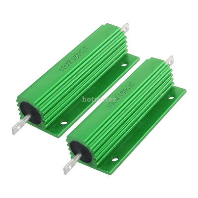H● 2 Pcs 100W 680 Ohm Screw Tap Mounted Aluminum Housed Wirewound