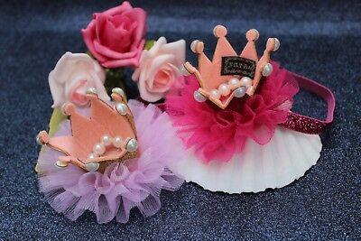 Children Princess Crown Hair Accessories glitzerkrone Pink Red