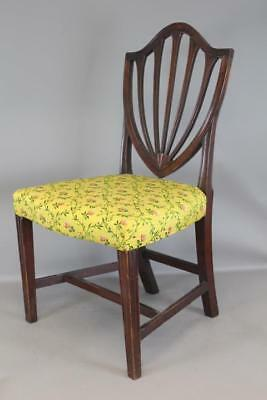 Rare 18Th C Salem Ma Carved Crest Hepplewhite Chair Old Patina Upholstered Seat