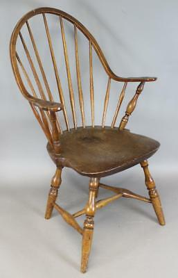 """The Very Best 18Th C Connecticut """"tracy School"""" Continuous Arm Windsor Chair"""