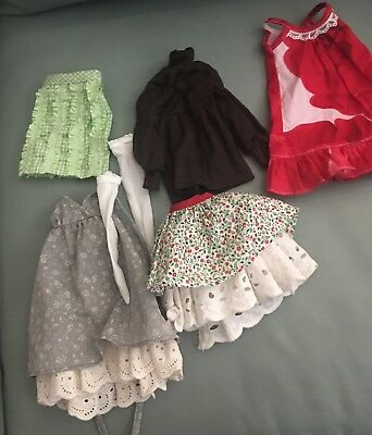 Made for Ellowyne Lizette Amber Prudence 3 dresses 2 skirts & pantyhose $1