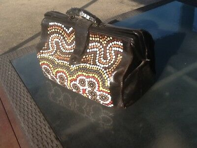 Old Doctor Bag with Aboriginal art