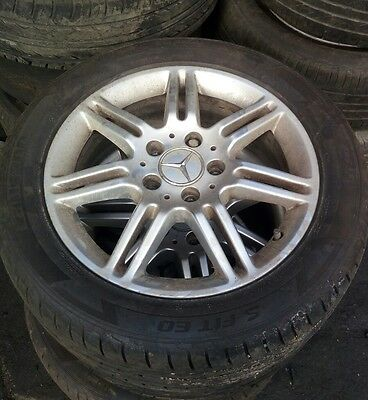 """05 - 10 Mercedes A Class A170 16"""" Factory Mag Wheel And Tyre 70%"""