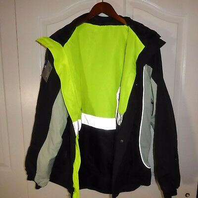 NWT XL Ergodyne Reflective Reversible GLOWEAR 8360 PENTA TEAM NYNY Work Jacket